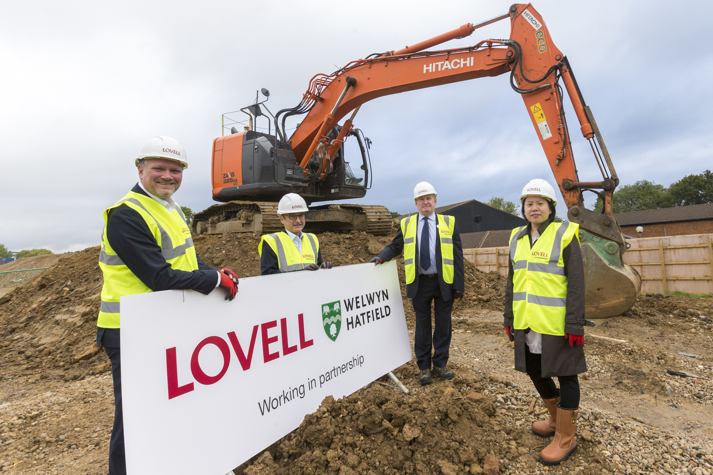 Ground breaking marks start of major new £45m regeneration scheme in High View